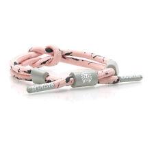 Rastaclat Knotaclat Rose Pêche Gris Bracelet Poignet Lacet de Chaussure
