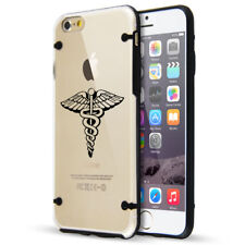 For Apple iPhone Clear TPU Hard Case Cover Medical Symbol Caduceus Physician