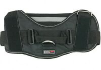 "DOGLINE Dog Harness LARGE Black Reflective 40-60 Pounds Girth 28"" - 38"" NEW"