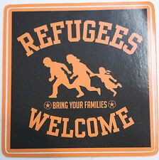 REFUGEES WELCOME PVC AUFKLEBER (MBRPVC010)