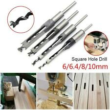 Square Hole Drill Bits Saw Wood Mortising Mortise Chisel Set Woodworking Tools