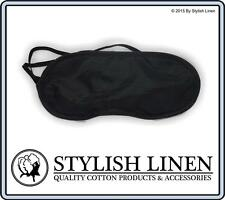 Travel Eye Mask Sleep Sleeping Soft Blindfold Cover Rest Eyepatch New Black