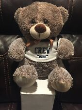 """13"""" Teddy Bear Soft Toy Plush with Crew USA Sweater and a Bow tie"""