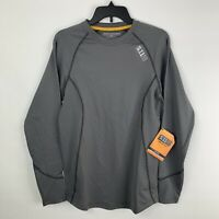 5.11 Tactical Mens Small Sub Z Crew Long Sleeve Baselayer Shirt Outdoor Gray NEW
