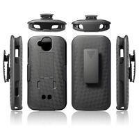 Kyocera Duraforce Pro (E6810, E6820) Black Kickstand Case with Belt Clip Holster