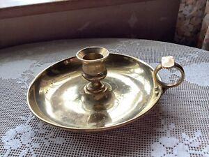 Brass Vintage Antique Candle Holder