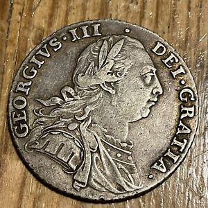 1787, George III, Shilling, Good grade..