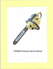 Early Pre-'85  PIONEER  Chainsaw Service Manual