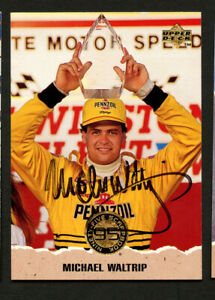 Michael Waltrip #68 signed autograph auto 1996 Upper Deck  NASCAR Trading Card