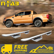 N-FAB Podium SS Side Steps For 18-20 Ford Ranger Crew Cab HPF1981CC-SS Chrome