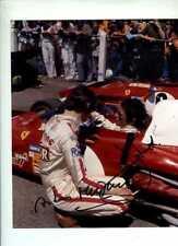 ICKX & MERZARIO FERRARI F1 Ritratto British Grand Prix 1972 firmato fotografia 1