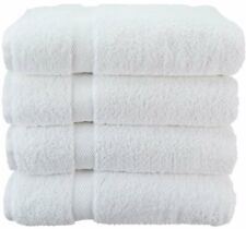 Wealuxe Cotton Bath Towels - Soft and Absorbent Spa Towel - 27x52- 4 Pack- White