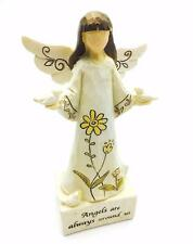 Angels Are Always Around Us Figurine Ornament With Birds Boxed 65544