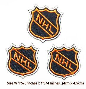 Small NHL Hockey 3pcs (Black/Orange)Sport Patch Logo Embroidery Iron,Sewing on