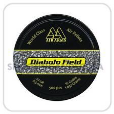 Air Arms Diabolo Field .22 (5.51mm) ~ Tin of 500 Pellets for Air Gun Rifle Pisto