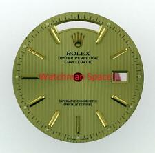 Original Men's Rolex Day-Date 18238 18038 Tapestry Champange Stick Dial 18KY #A3