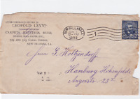 united states to hamburg 1898 furnishings advertising  stamps cover  ref r14807
