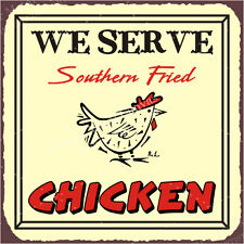 (VMA-L-6554) Southern Fried Chicken Vintage Metal Art Meat Deli Retro Tin Sign