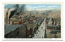 Pre 1930 Whte Boarder Unused Post Card Park St Rocky Mountains Butte Montana MT