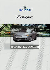 Prospekt Hyundai Coupé Zubehör 1/02 car brochure 2002 Auto PKWs Autoprospekt