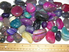 Polished agate colored Brazil 1/2 to 2 inch 2 pound lots