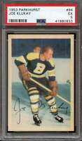 1953-54 PARKHURST #94 JOE KLUKAY PSA 5 BRUINS NICELY CENTERED  *ADT1333