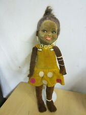 Antique English Cloth Black Rare Norah Wellings Girl Doll