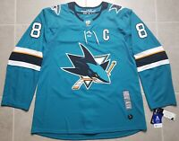San Jose Sharks Authentic Teal NHL Adidas Hockey Jersey Joe Pavelski Size 54 XL