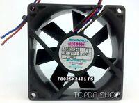 MECHATRONICS F8025X24B1 FS Inverter cooling fan DC24V 0.26A 80*80*25mm 3pin