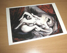 EROTICA UNIVERSALIS Postcard Kunstkarte Sittengeschichte Illustration zu Gamiani