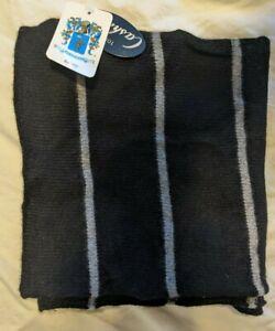 Portolano Scarf - Men's Black & Grey Cashmere w/tags