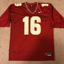 Nike Florida State Seminoles FSU Football Blank Jersey #16 sz L Large Red NCAA