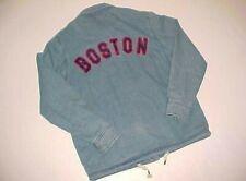 Boston Red Sox MLB AL Black Label Women Blue Red Denim Buttons Shirt Jacket M