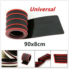 Red Guard Strip Car Rear Bumper Sill/Protector Plate Rubber Cover Guard Pad PAD