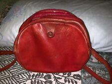 Vintage Christian Dior Bag Handbag Red Leather Crossbody 100% Authentic