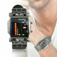 Luxus herren Edelstahl Uhr LED Sport Datum Digitale S2E3 Armbanduhren N4N1