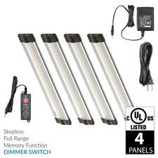 Lightkiwi S7471 6 Inch Cool White LED Under Cabinet Lighting - 4 Panel Kit