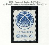 19180) UNITED NATIONS (New York) 1985 MNH** Nuovi** ILO