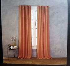 Cynthia Rowley Coral/Orange Solid Window Curtain Panels 52x96 PAIR