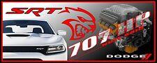 "24"" X 60"" PRINTED DODGE CHARGER SRT HELLCAT BANNER - HOT ROD CAR"