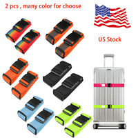 2 pcsl Adjustable Luggage Baggage Straps Tie Down Belt Travel Buckle Lock  US