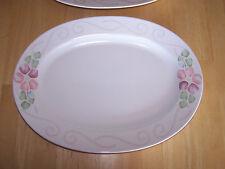 "Pfaltzgraff USA ANDALUCIA Oval Platter 14"" Peach Pink Green"