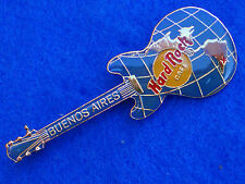 BUENOS AIRES WORLD MAP BLUE GLOBE GIBSON LEFT HANDED GUITAR Hard Rock Cafe PIN