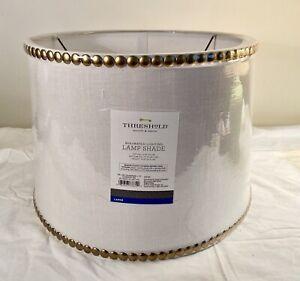 """Threshold Mix & Match Lamp Shade Lrg- Light Linen 10""""Tall x 13""""Top x 15"""" Bottom"""