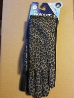 Women's Isotoner Grey Leopard smartDRI smarTOUCH Gloves -New - One Size