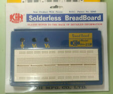 Original NOS K&H RH-21B Solder-less Breadboard PROTO BOARD in GL-36 box