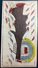 c1780 Minor Arcana Ace of Clubs Antique Tarot Marseille Playing Cards Single