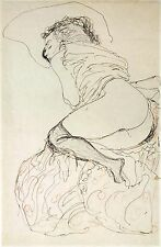 Gustav Klimt Drawings: Two Nude Studies -  2 Fine Art Prints