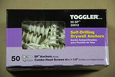 Toggler Brand SnapSkru  SP Self Drilling Drywall Anchor w/Screws 50/Box 30012