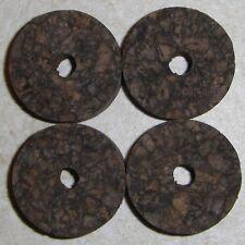 "4 BURNT BURL CORK RINGS 1 1/4"" D x 1/2"" H x 1/4"" I.D."